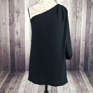 Elizabeth & James black one shoulder mini dress